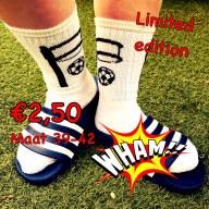Retro sokken, maat 39-42: €2,50 per paar. Limited Edition!