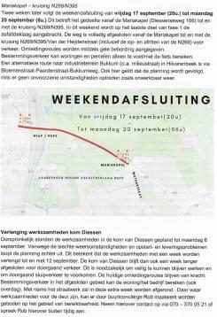 Weekend 17 t/m 20 september